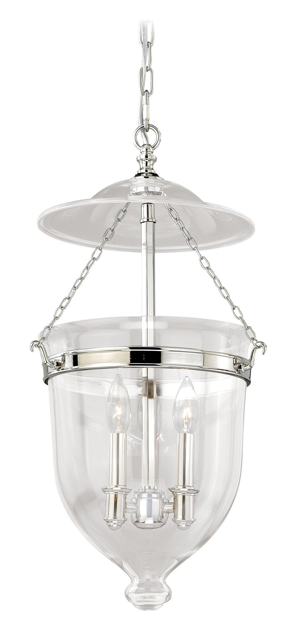 Vaxcel 630 Series 12-3/4 Inch Pendant Polished Nickel W/clear Glass Model: P0119