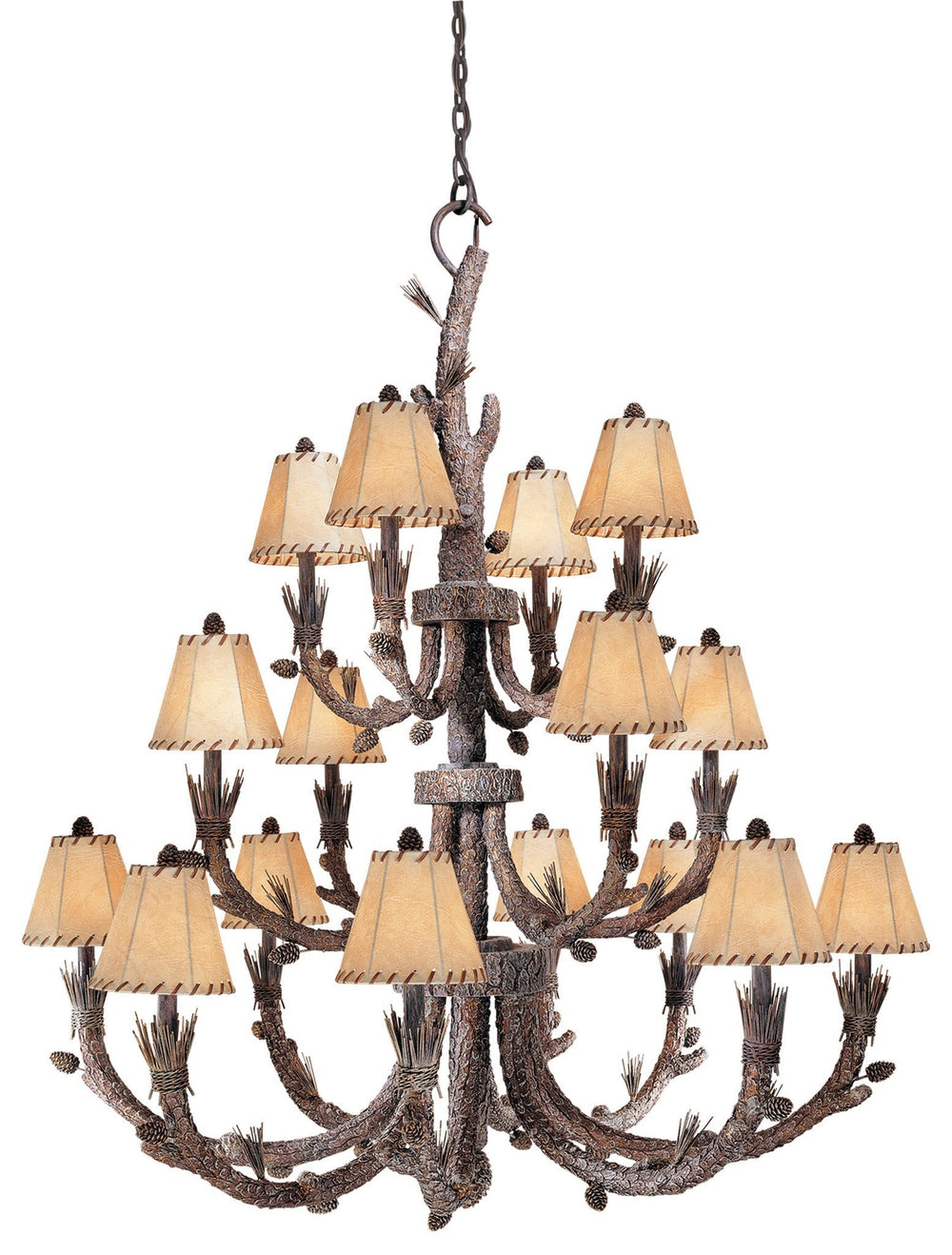 Vaxcel Aspen 16 Light Chandelier Model: AS-CHS016PT