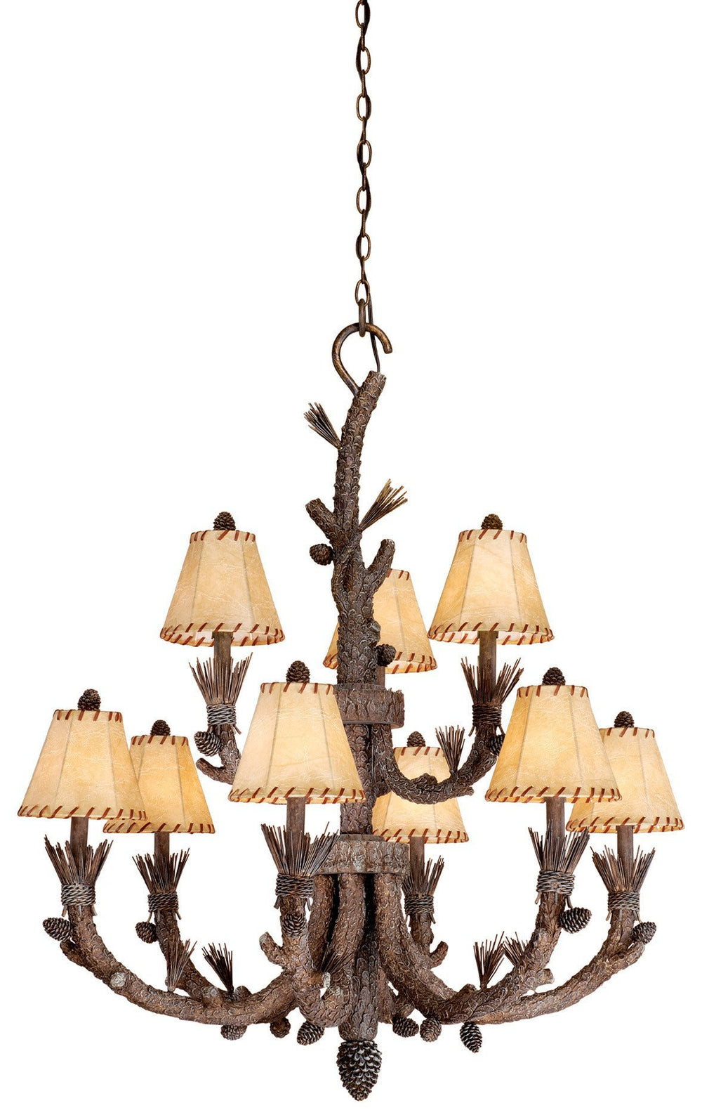 Vaxcel Aspen 9 Light Chandelier Model: AS-CHS009PT