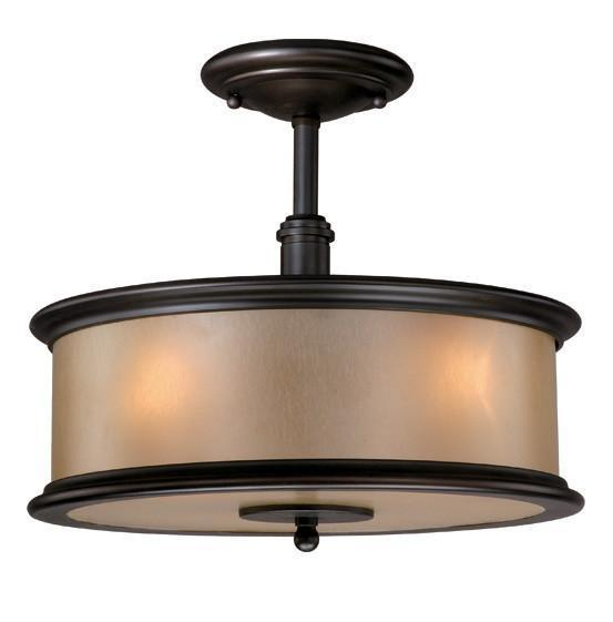 Vaxcel Carlisle 13.5 Inch Dual Mount Semi-flush Or Pendant Model: CR-CFU130NB