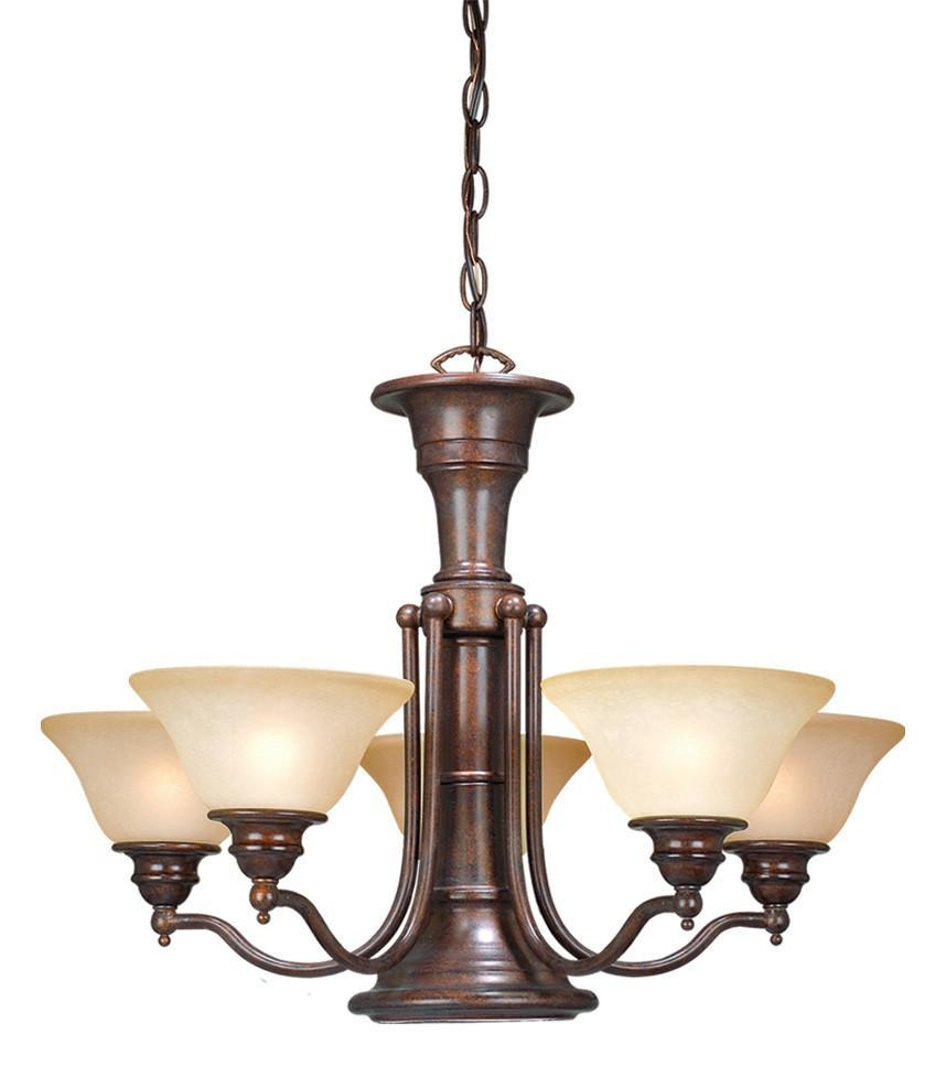 Vaxcel CH30306RBZ Standford 6L Chandelier Royal Bronze