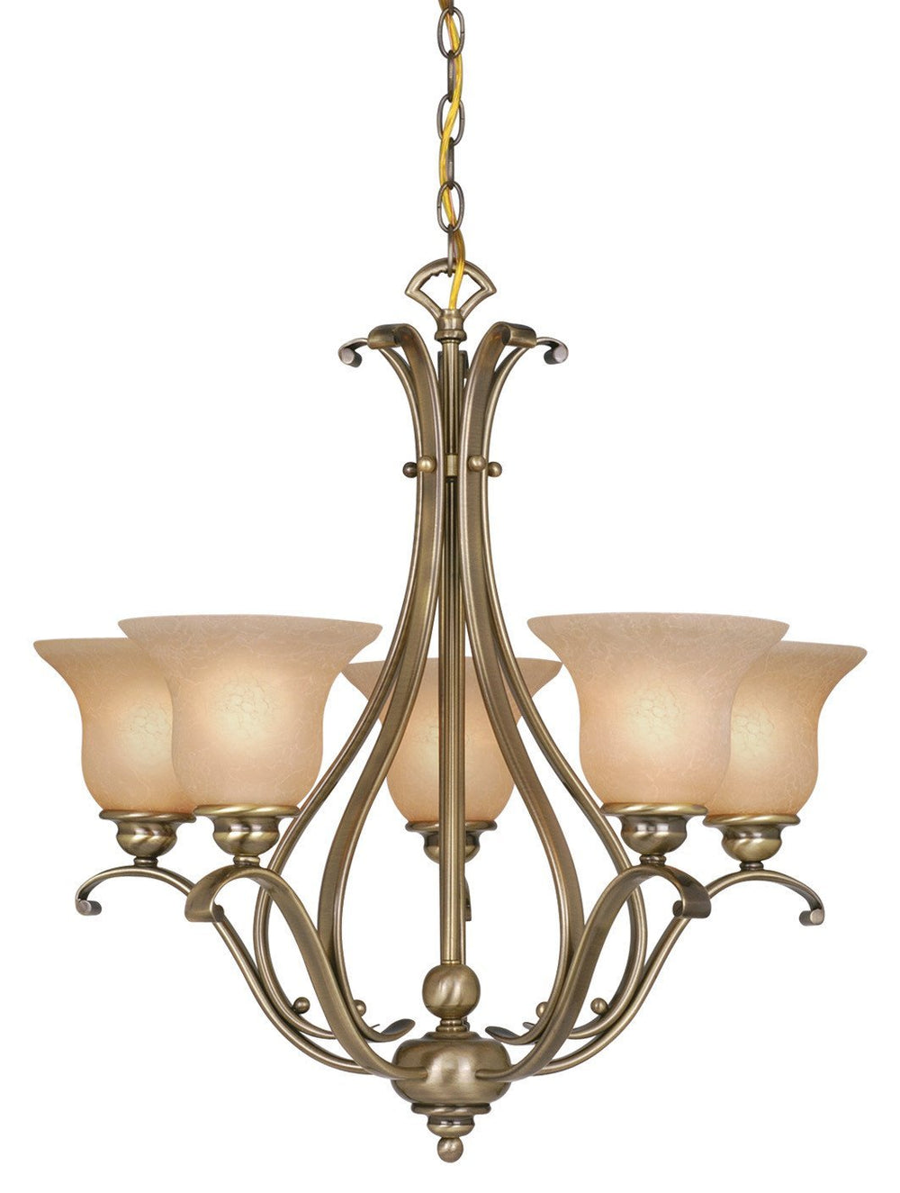 Vaxcel CH35405A/C Monrovia 5L Chandelier Antique Brass