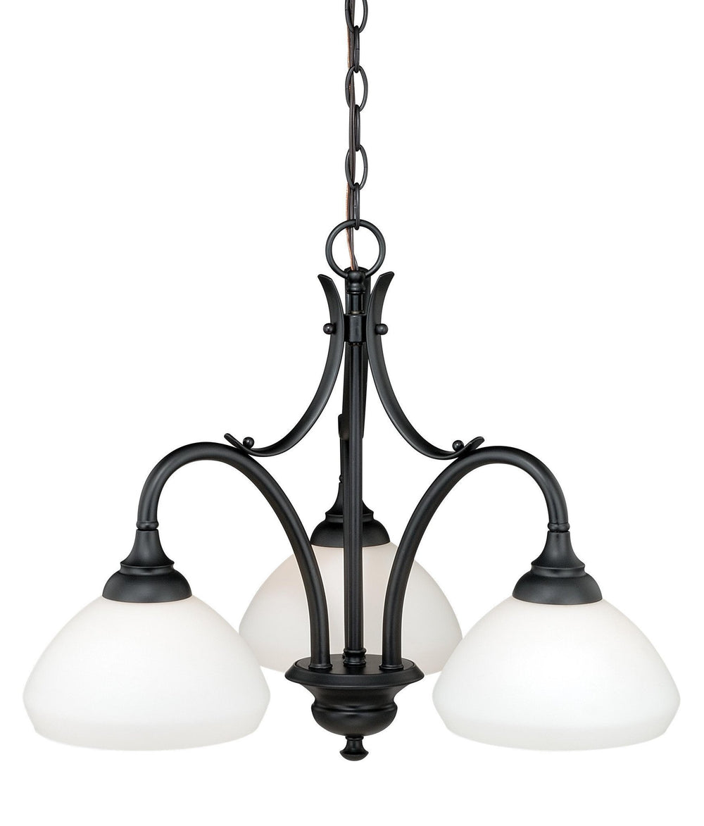 Vaxcel Grafton 3 Light Chandelier Model: H0132