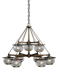Vaxcel Jamestown 9 Light Chandelier Model: H0028