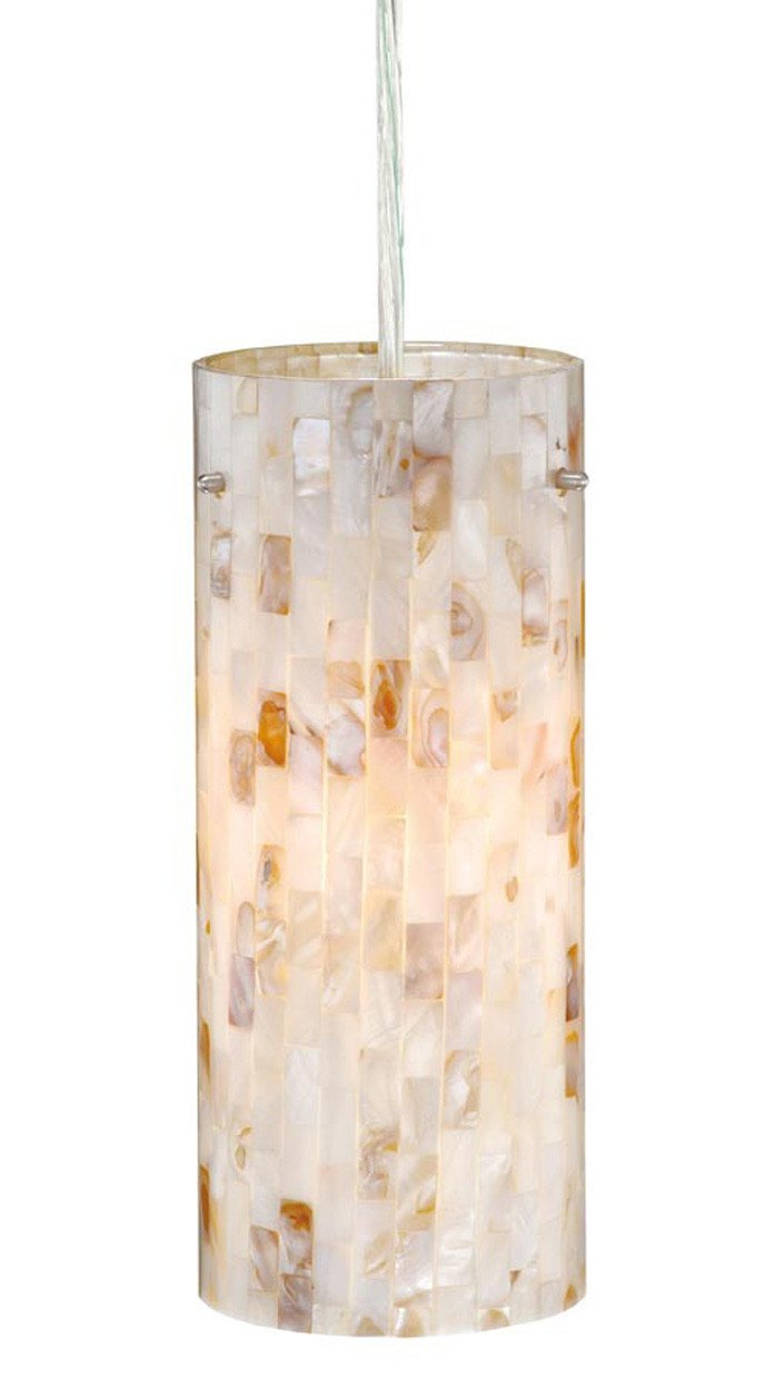 Vaxcel Milano 4 Inch Mini Pendant W/mosaic Shell Glass Model: PD53204SN