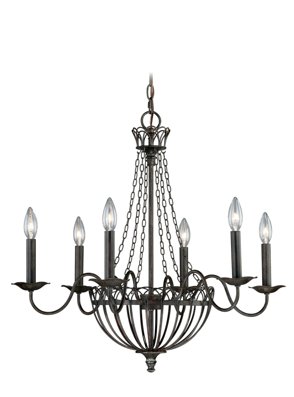 Vaxcel Novara 6 Light Chandelier Model: H0058