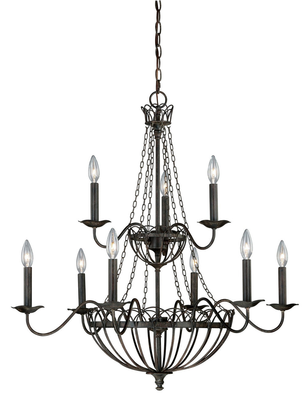 Vaxcel Novara 9 Light Chandelier Model: H0059