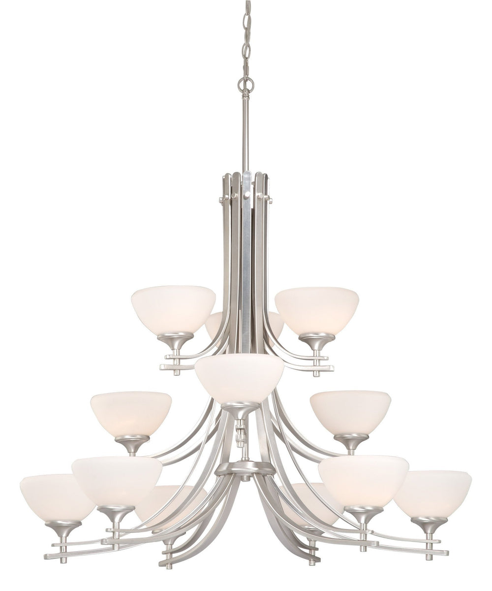 Vaxcel Sebring 12 Light Chandelier Model: SE-CHU012BN
