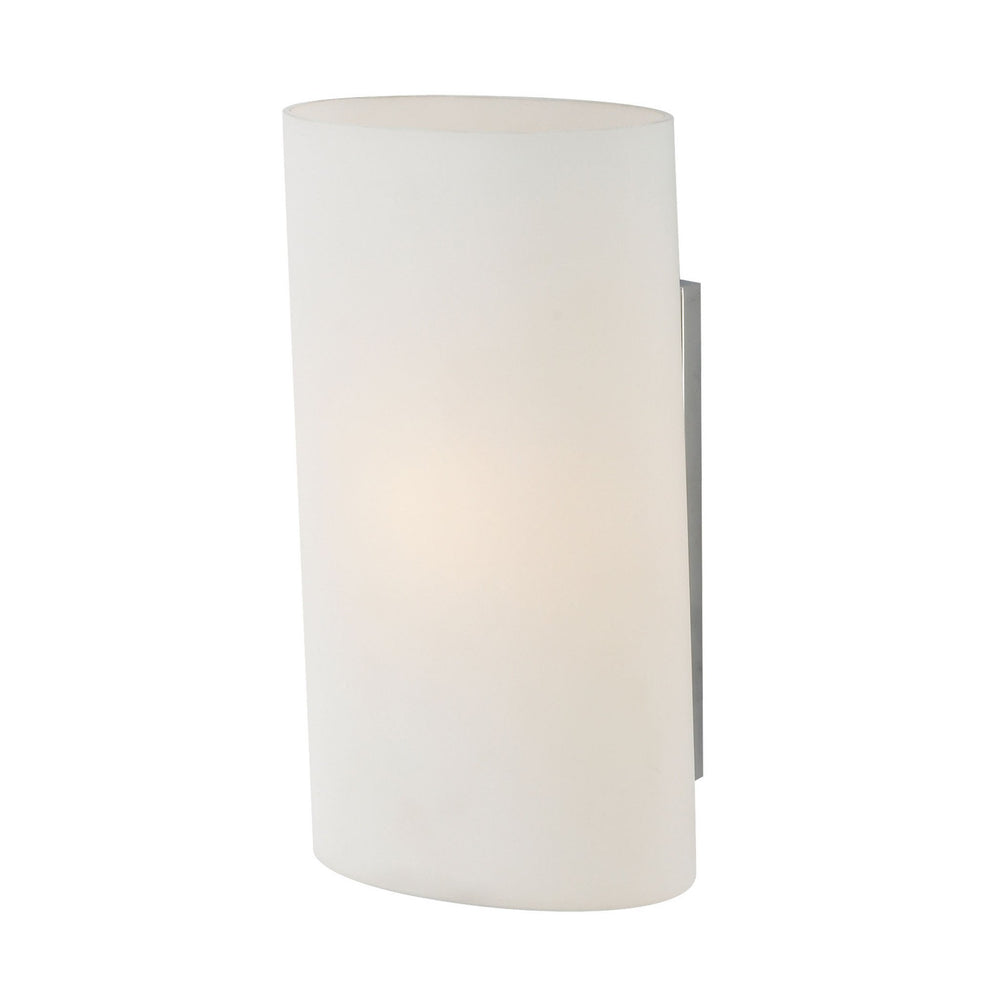 WS1330-10-15 Alico Ovo Sconce White Opal Glass / Chrome Finish
