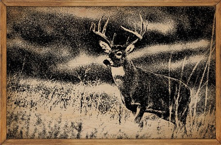 Deer - Framed Wooden Sign
