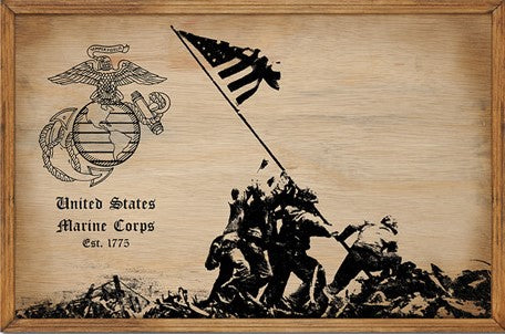 Marine - Iwo Jima Memorial Sign
