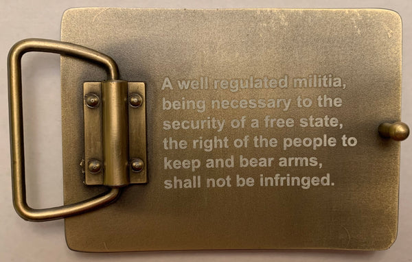2nd Amendment Belt Buckles by Wild Webb LeatherWorks