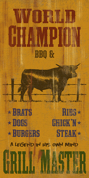 World Champion BBQ & Grill Master Sign