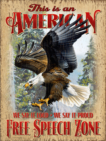 American Free Speech Zone Eagle Sign