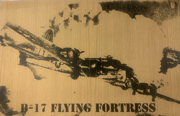 B-17 Flying Fortress Wood Sign