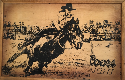 Coors Light Rodeo Wood Sign