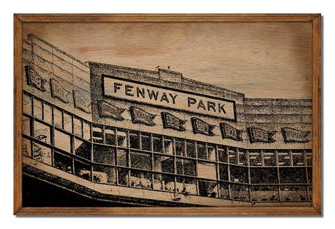 Fenway Park Framed Wood Sign