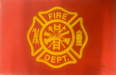 Wood Sign - Fire Department