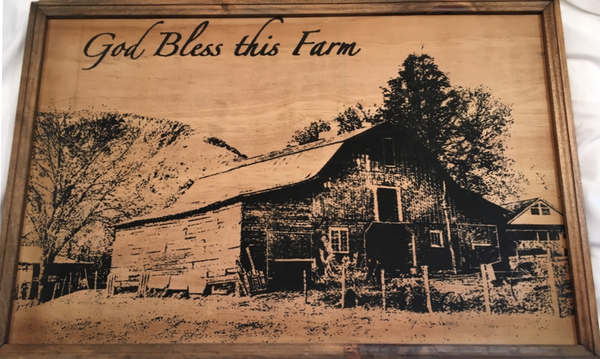 God Bless This Farm - Wood Framed Sign