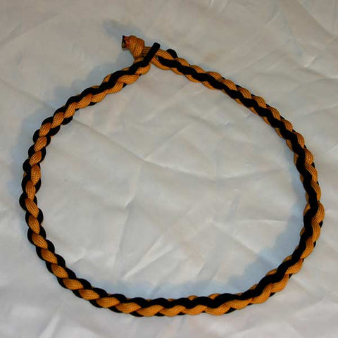 Paracord Necklace - Black & Gold