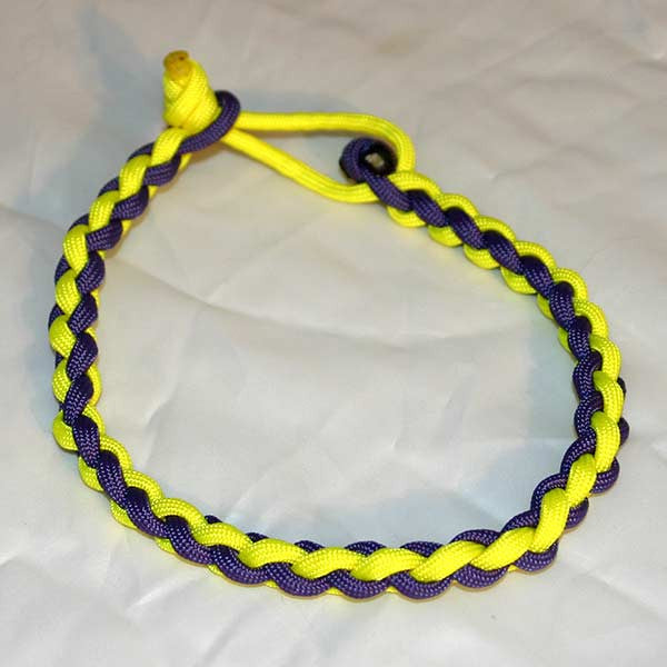 Paracord Necklace - Yellow & Purple
