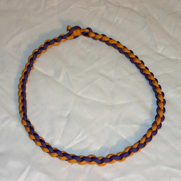 Paracord Necklace - Gold & Purple