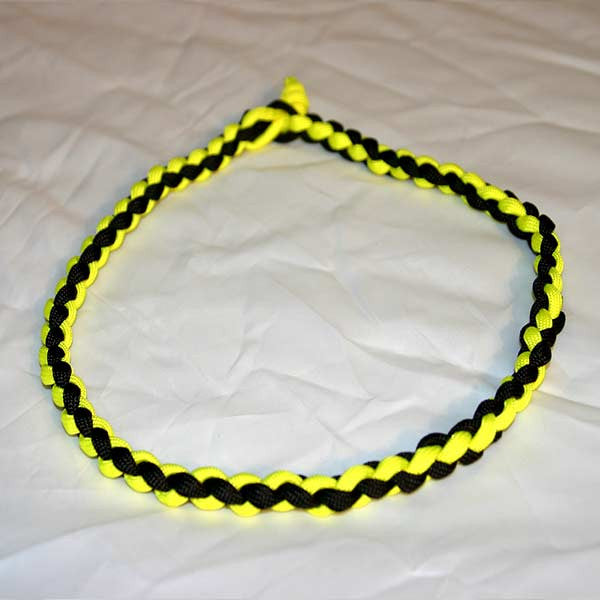 Paracord Necklace - Yellow & Black