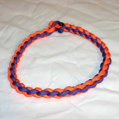 Paracord Necklace - Orange & Purple