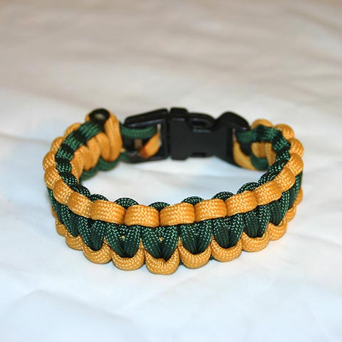 Green & Gold Survival Bracelet