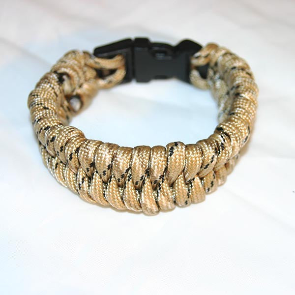 Gold Camo Wide Paracord Bracelet