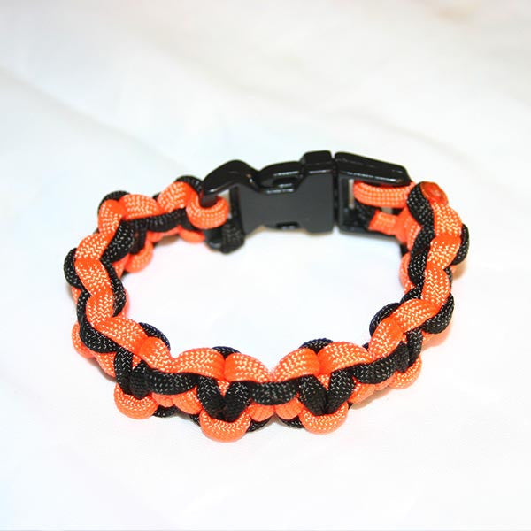 Orange & Black - Heart Stitch Survival Bracelet