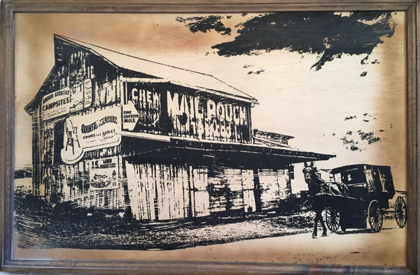Mail Pouch Tobacco - Framed Wooden Sign