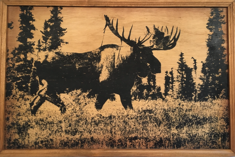 Moose - Framed Wood Sign