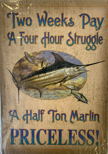 Fishing Collection Metal Signs - 10 Designs