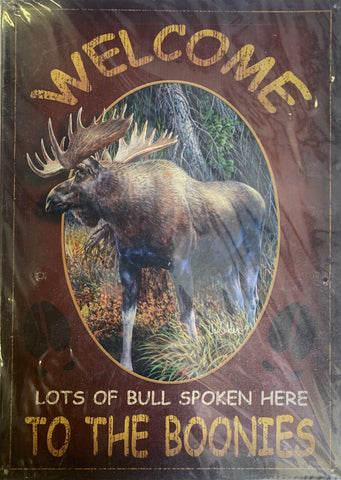 Moose Collection Metal Signs - 2 Designs