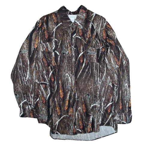 Shaman Grassland Camouflage - Long-Sleeve Camp Shirt
