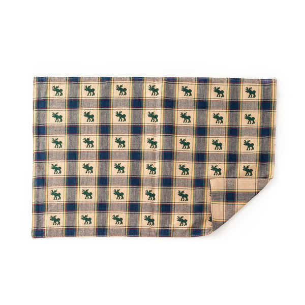 Check Moose Cotton Placemats (Set of 4)