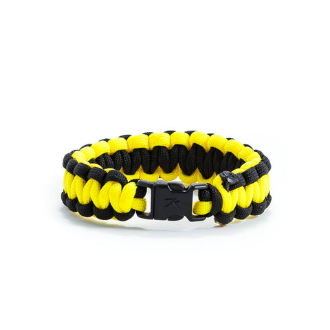Yellow & Black Survival Bracelet