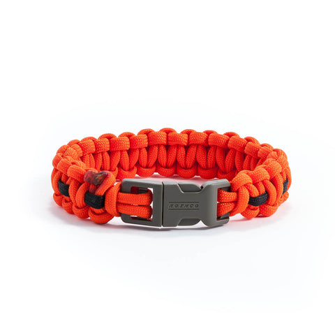 Orange & Black Survival Bracelet