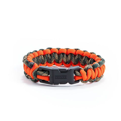Orange & Green Camo Survival Bracelet