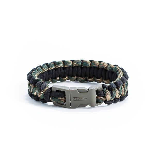 Green Camo & Black Survival Bracelet