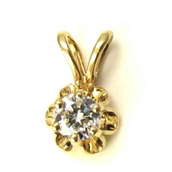 Diamond Pendant (0.18 carat VS) in a lovely Buttercup Flower Setting