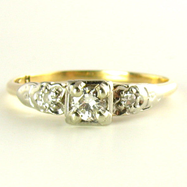 Diamond Ring: Darling Diamonds and White Sapphires set in 14K Gold