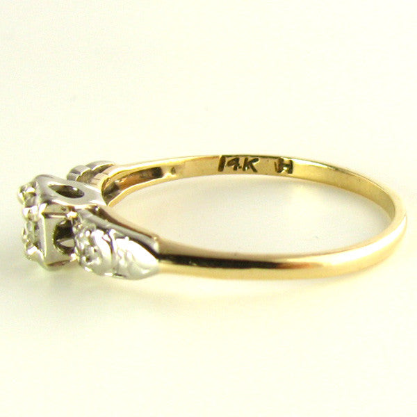 Diamond Ring: Darling Diamonds and White Sapphires set in 14K Gold Side