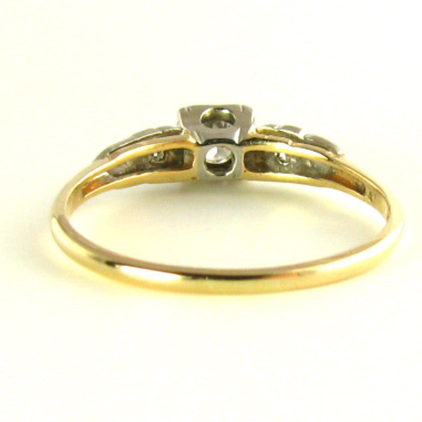 Diamond Ring: Darling Diamonds and White Sapphires set in 14K Gold Back