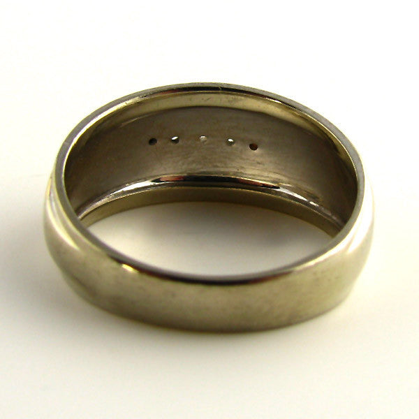 Vintage Mens Ring in 14K White & Gold