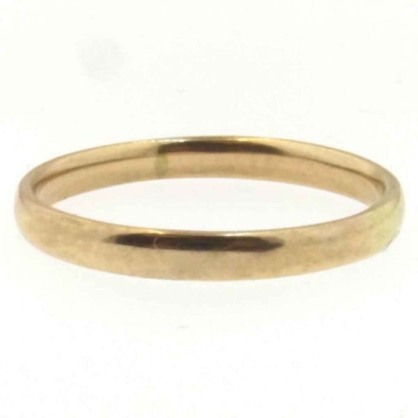 1942 WW2 London 9K Gold Wedding Band - Larger Size - Beautiful Antique Jewelry