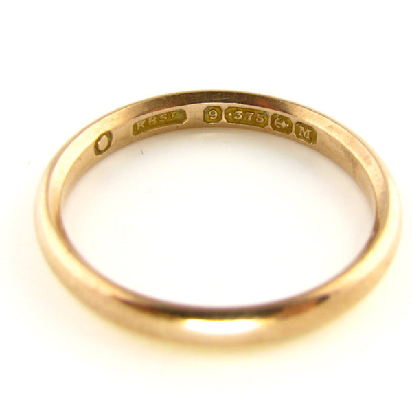 Antique Victorian Rose Gold Wedding Band