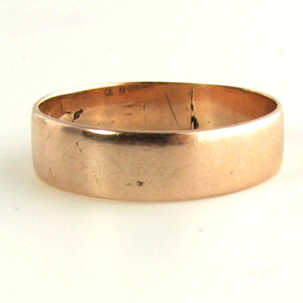 1889 Chester UK Rose Gold AntiqueWedding Band - Beautiful Antique Jewelry