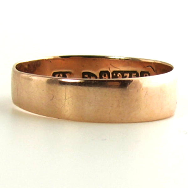1889 Chester England 9K Rose Gold Wedding Band
